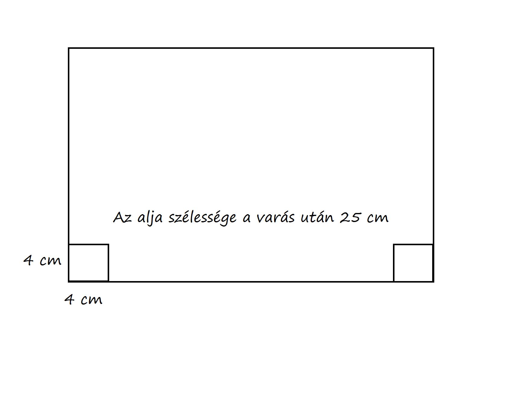 4a767f5ae131 Számoljunk 8 cm mélységet. Hogy ezt hogyan rajzoljuk a papírra? Nem 8 cm-t  veszek hanem 4 cm-t. Mivel ez a méret az oldala magasságából is kell ezért  a ...